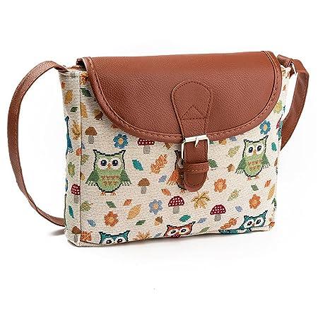 5a8554ff25c6 Nawoshow Fashion Women Lady Many Owl Satchel Cross-Body Bag Shoulder Bag  Messenger Bag (C)