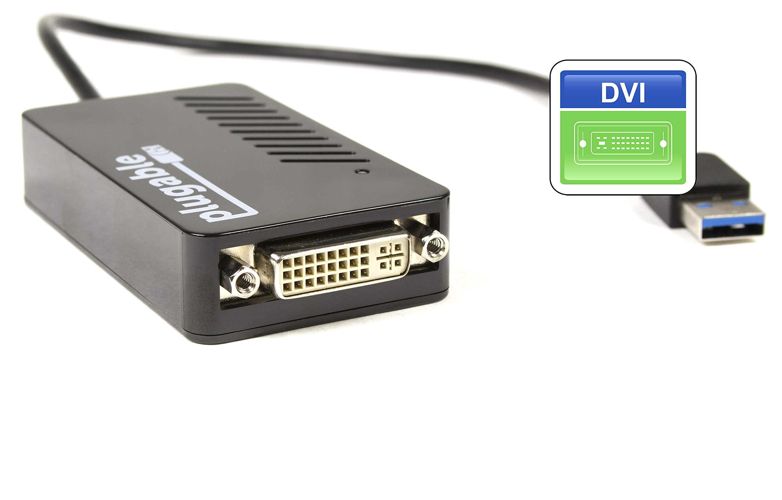 Plugable USB 3.0 to VGA/DVI / HDMI Video Graphics Adapter for Multiple Monitors up to 2048x1152 / 1920x1080 (Supports Windows 10, 8.1, 7, XP) by Plugable (Image #6)