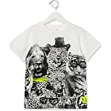 Stella McCartney Kids White Arlo Jungle Print T-shirt 381718