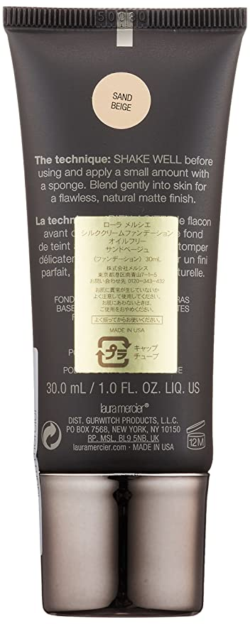 Laura Mercier Base en Crema Libre de Aceite, para Piel Normal o Grasa, Tono Sand beige - 30 ml: Amazon.es: Belleza
