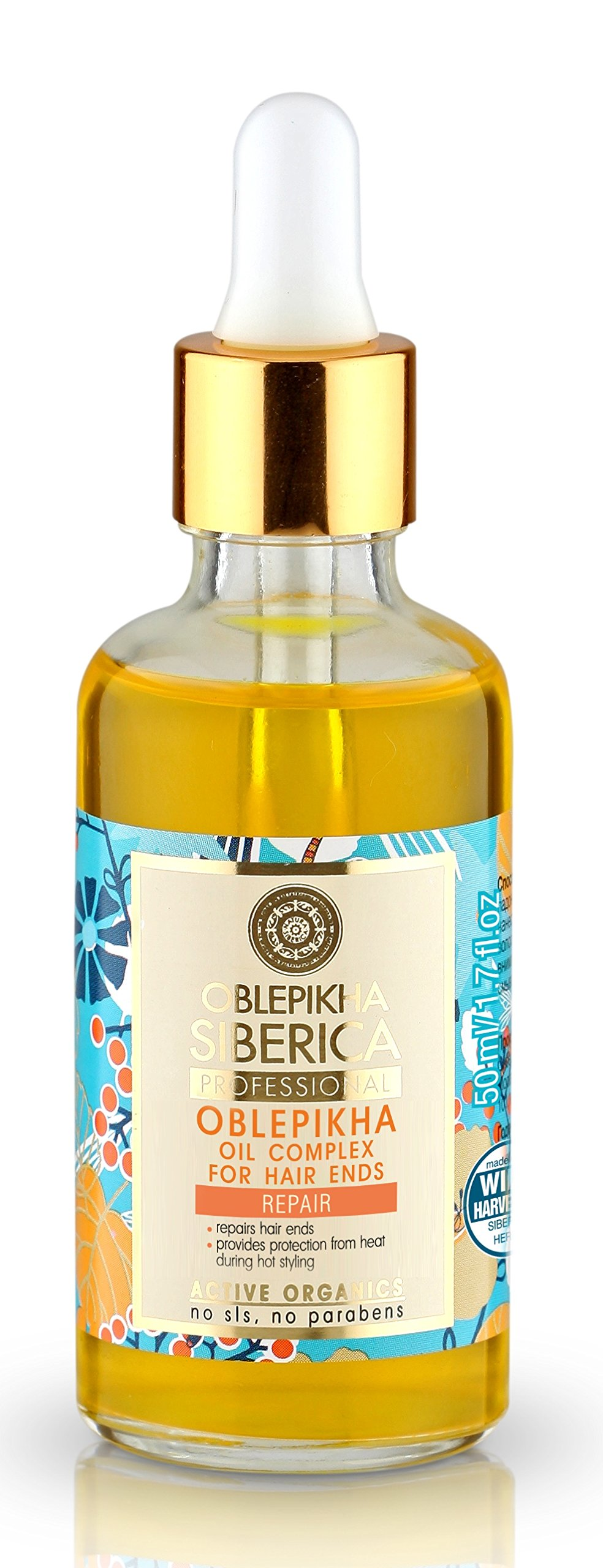 Active Organic Sea Buckthorn Oil for Hair Tips 50 Ml (Natura Siberica)
