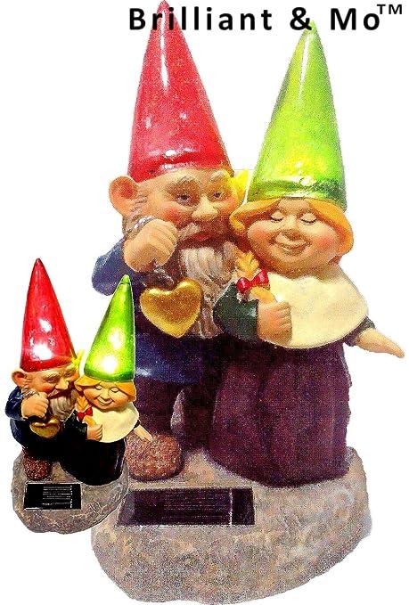 Amazon.com : Brilliant & Mo(TM) Loving Couple Garden Gnome holding on