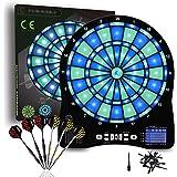 Turnart Electronic Dart Board,13 inch Illuminated Segments Light Based Games Electric Dartboard for Adults Tested Tough Segme