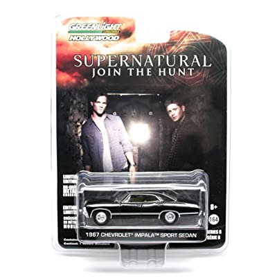 1967 CHEVROLET IMPALA SPORT SEDAN from the television show SUPERNATURAL Greenlight Collectibles 1:64 Scale Hollywood Series 6 Die Cast Vehicle by GL Hollywood: Toys & Games