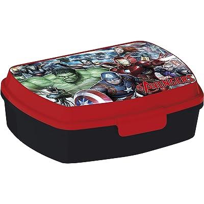 ALMACENESADAN 2040 Sandwichera Restangular Avengers Gallery; Producto de plástico; Libre BPA; Dimensiones Interiores 16,5x11,5x5,5 cm: Juguetes y juegos