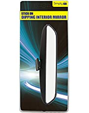 Simply SDM01 Adhesive Pad Dipping Interior Mirror, 210 x 50mm, Increase Visibility When Driving, Easy to Fit & Remove, Quickly Dip the Angle, Instructions Included