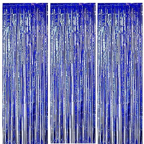 Amazon.com: OnUpgo cortinas con flecos de lámina metálica ...
