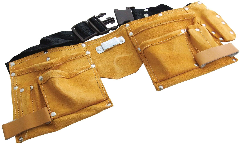 Am-Tech Ceinture porte-outils é conomique en cuir 11 poches AM-N0950