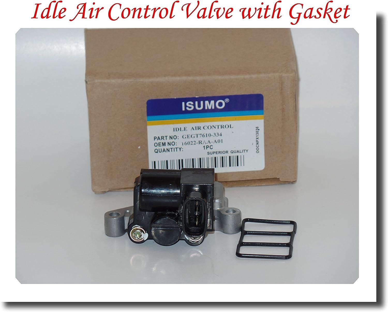 16022-RAA-A01 16022RAAA01 IDLE AIR CONTROL VALVE WITH GASKET FITS L4-2.4L HONDA ACCORD 2003-2004-2005 HONDA ELEMENT 2003-2004-2005-2006