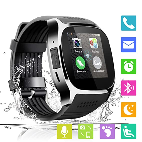 Smart Watch Bluetooth Smartwatch Unlocked cell Phone Watch with SIM TF Card Smart Wrist Watch with Camera Fitness Tracker Sports Watch for All Android ...
