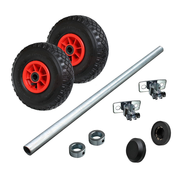 Wagenbau Satz Achse//Radsatz mit Luftrad 260mm WB260S3 STRICKER-ROLLEN