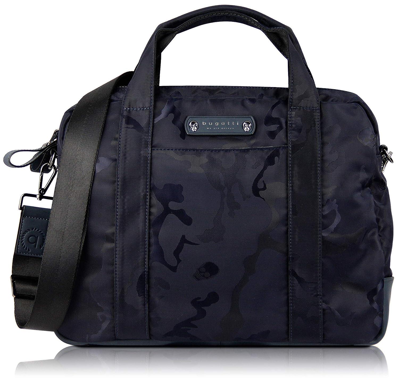 """bugatti Camo Businesstasche für Damen und Herren mit 15"""" Laptopfach, Arbeitstasche Aktentasche Große Bürotasche, Camouflage, Marine 493805"""