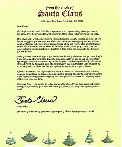 Amazon personalized letter from santa mailed from the north personalized letter from santa mailed from the north pole spiritdancerdesigns Gallery