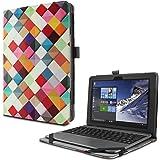 ASUS TransBook T101HA ケース Infiland ASUS 2in1ノートブック TransBook T101HAスタンドカバー 薄型 軽量型 内包型 高品質PUレザーケース 手帳型 全保護カバー