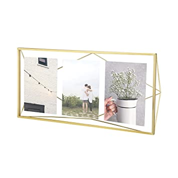 Umbra Prisma 3D Deko Bilderrahmen weiß modern Metall Fotorahmen für 13x18 Bild
