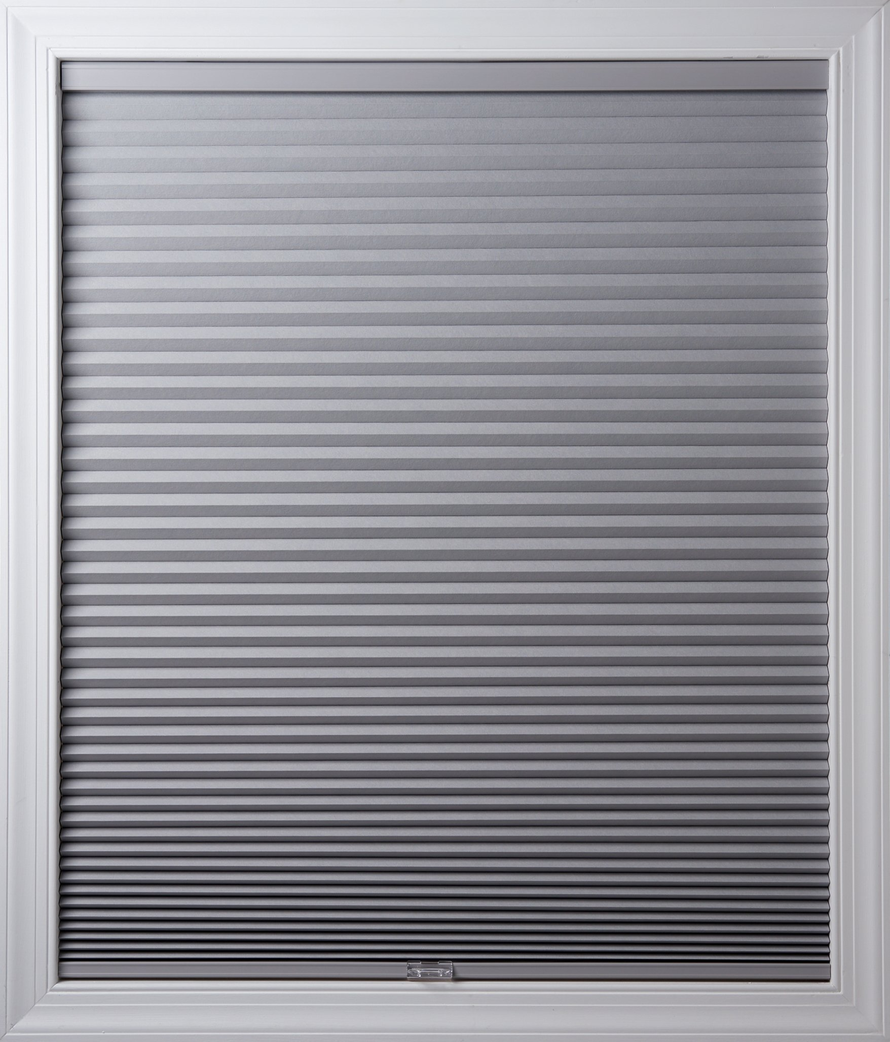 New Age Blinds Room Darkening Inside Frame Mount Cordless Cellular Shade 42-1/2 x 48-Inch Gray Sheen by New Age Blinds