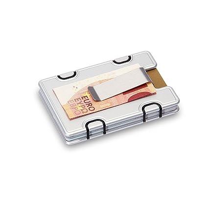 M1 Cartera Soporte Para Cartas Clip Card Holder (Plata)
