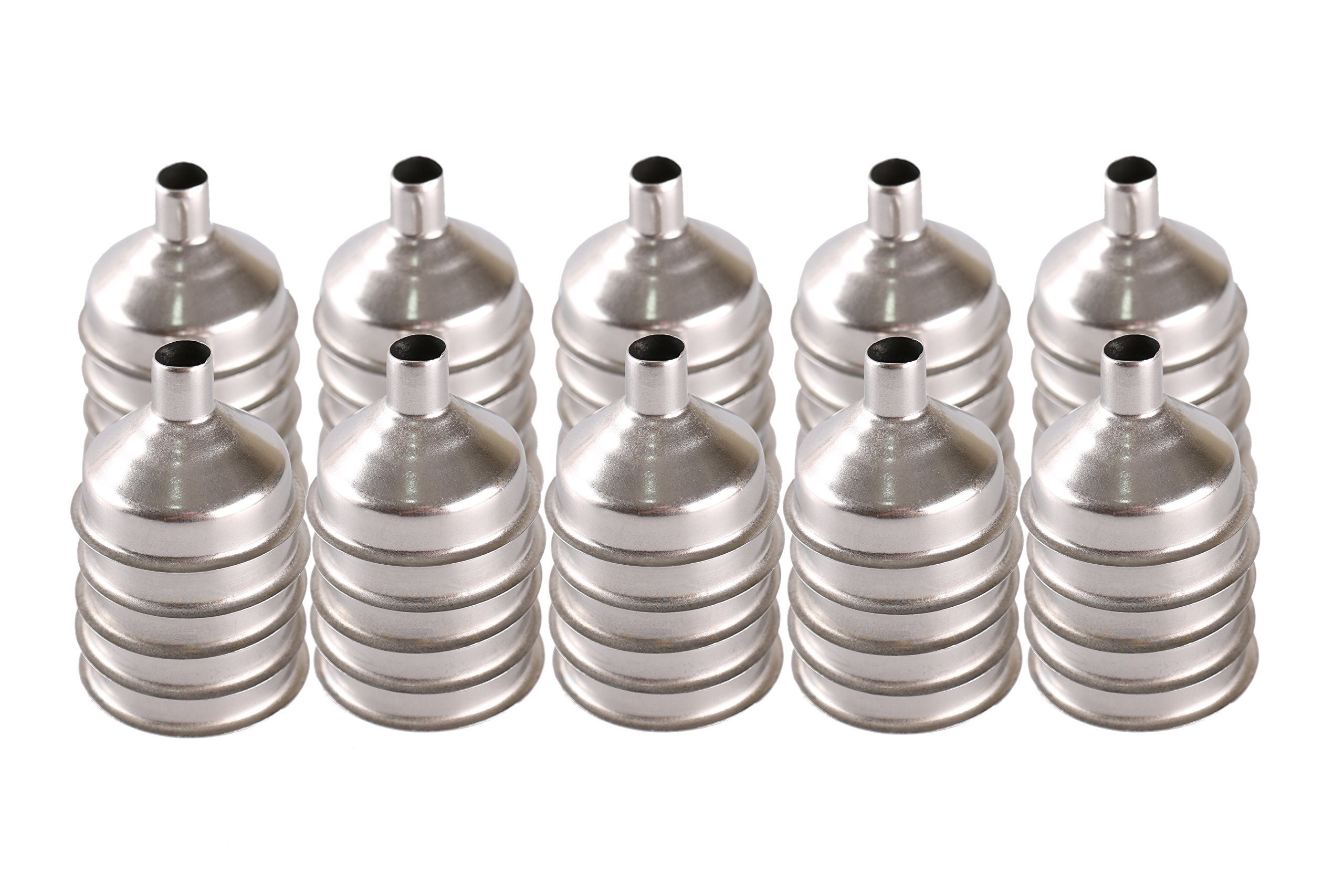Stainless Steel Mini Funnel for Essential Oil Bottles/Flasks - Pack of 50 by Mirenlife