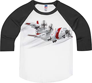 product image for Shirts That Go Little Boys' Coast Guard Propeller Airplane Raglan T-Shirt