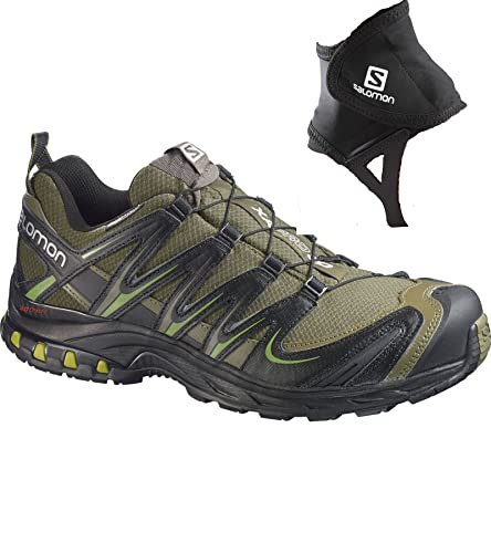 Salomon Men s XA Pro 3D CS WP Trail Running Shoe 9 Iguana Green Black  28a5289f48