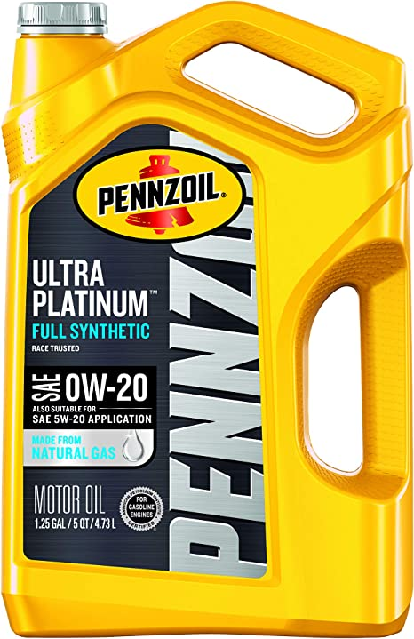 0w 20 Vs 5w 20 >> Pennzoil Ultra Platinum Full Synthetic 0w 20 Motor Oil 5 Quart Case Of 3