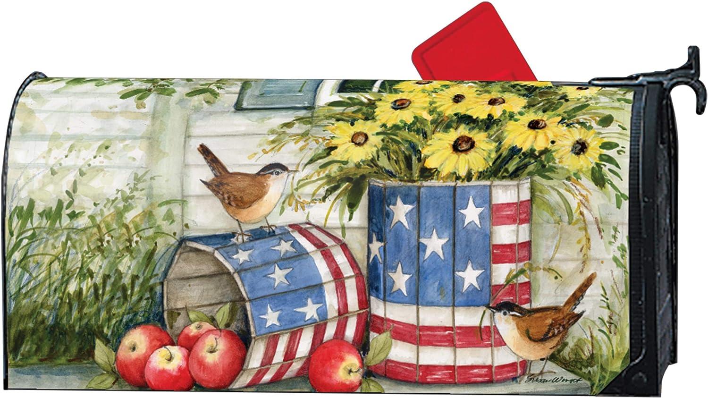 MailWraps Studio M Patriotic Planters Magnetic Mailbox Cover