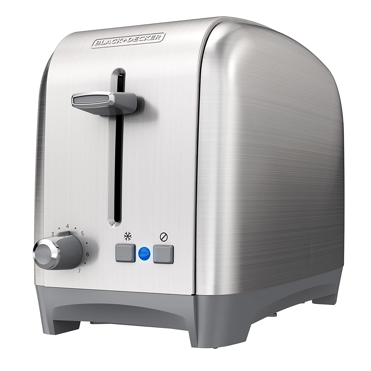 BLACK+DECKER 2-Slice Extra Wide Slot Toaster, Classic, Stainless Steel, TR2400SD (Renewed)