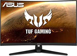 "ASUS TUF Gaming VG328H1B 32"" Curved Monitor, 1080P Full HD, 165Hz (Supports 144Hz), Extreme Low Motion Blur, Adaptive-sync, FreeSync Premium, 1ms, Eye Care, HDMI D-Sub"