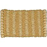 Jute Co & Natural Coconut Fibre Doormat, Natural and Jute, Woven, 45 x 75 cm, Beige