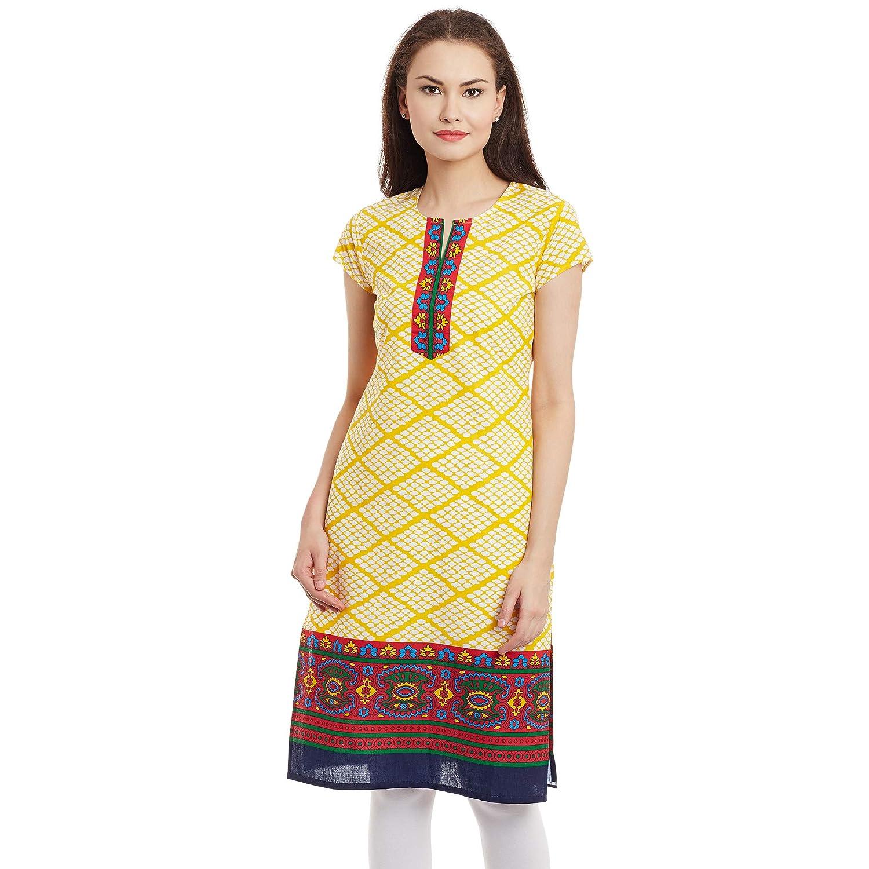 7f3a11913caae Be indi women yellow coloured printed kurtis clothing accessories jpg  1500x1500 Printed kurtis