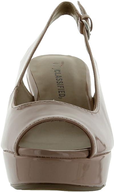 Amazon.com   City Classified Womens Alina Fashion Sandals, Nude Patent Pu, 7.5   Fashion Sneakers