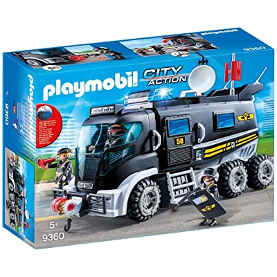 PLAYMOBIL Tactical Unit Truck: Toys & Games