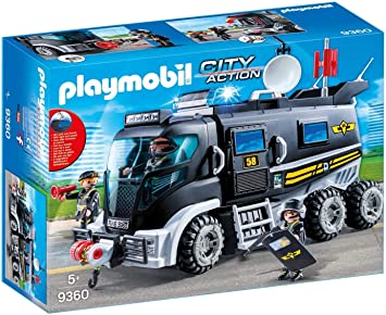 PLAYMOBIL 9363 City Action SWAT Elicottero verricello di lavoro