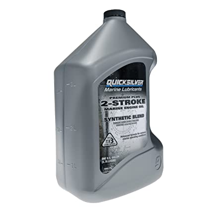 Quicksilver 858027Q01 Premium Plus Two-Cycle TC-W3 Oil for 2-Cycle Mercury,  Mariner, Force, Mercury Jet Drive Outboards and Mercury Sport Jet Engines,