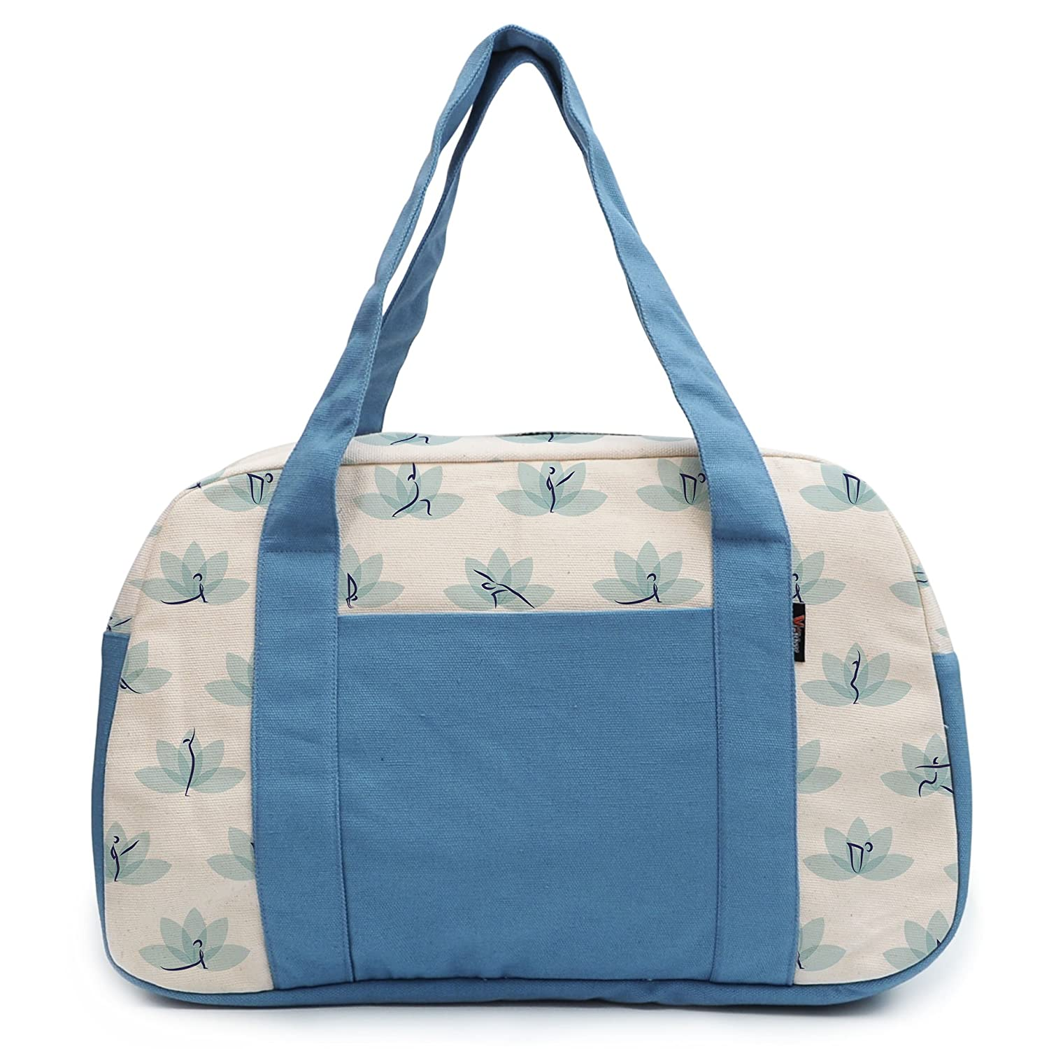 Womens Yoga Patterns Printed Canvas Duffel Travel Bags WAS/_19