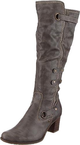 Boots Femmes RIEKER. Gris Achat Vente bottine Cdiscount
