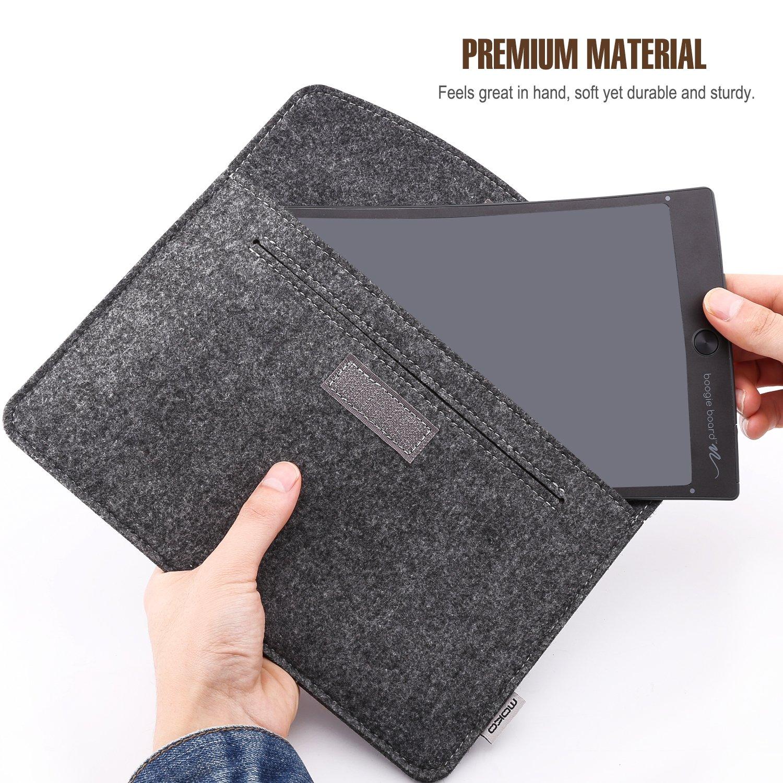 Galaxy Tab A 10.1 Light Gray MoKo 9-10.5 Inch Tablet Sleeve Case Surface Go 2018 Felt Case Bag Fits iPad Air 10.5 2019//iPad Pro 11 2018//iPad Pro 10.5//iPad 9.7 //iPad Air 2 9.7 Inch 6th Gen