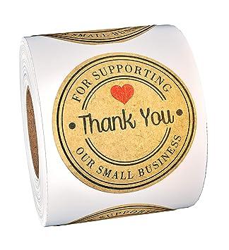 Amazon.com: 500 pegatinas de agradecimiento – Gracias por ...