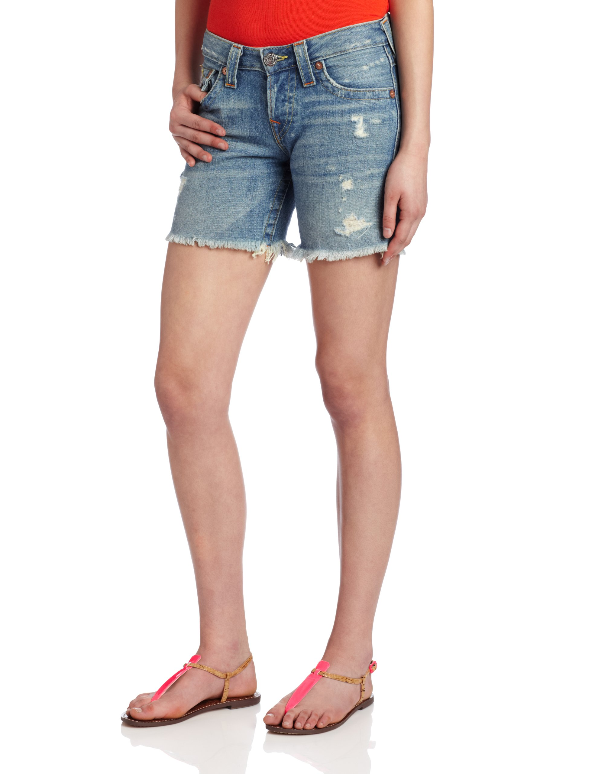 True Religion Women's Jayde Boyfriend Short, T4 Wagoneer, 29