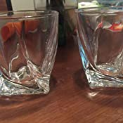 Amazon.com: GoodGlassware Twist - Vasos de whisky (4 ...