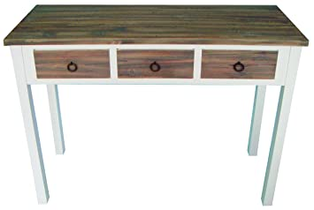 elbmöbel.de - Tavolino da ingresso in legno, motivo vintage ...