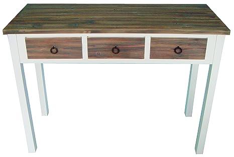 elbmöbel.de - Tavolino da ingresso in legno, motivo vintage, colore ...