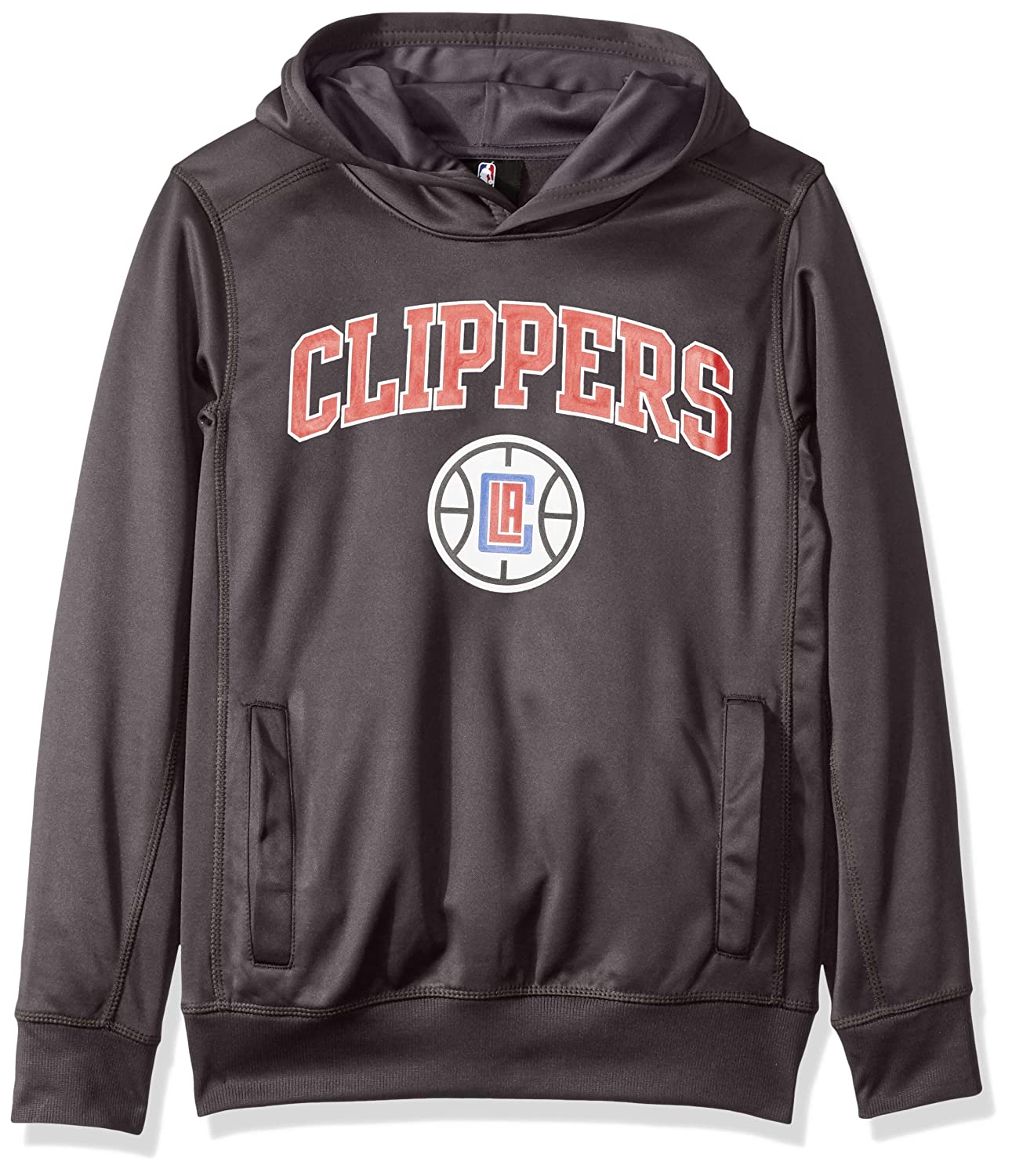 Outerstuff NBA NBA Youth Boys Los Angeles Clippers Loose Ball Performance Hoodie 14-16 Charcoal Youth Large