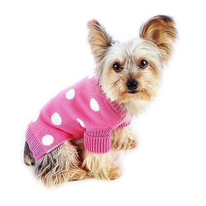 85679a0bbbc1 Amazon.com : Stinky G Polka Dot Dog Sweater French Pink Size #10 ...