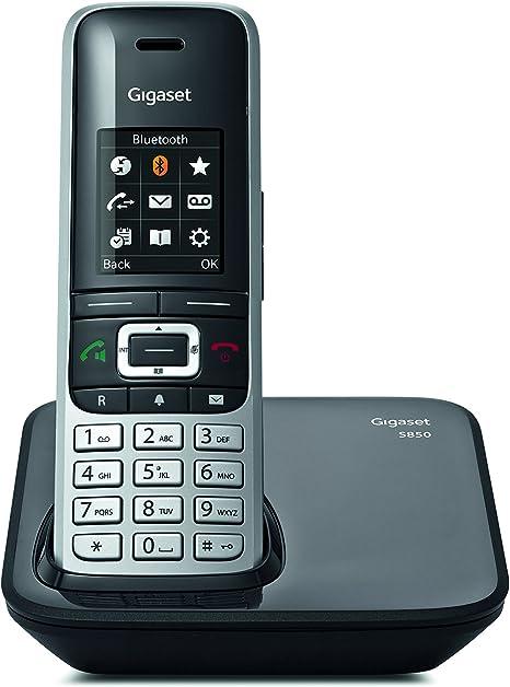 Gigaset S850 - Teléfono inalámbrico con manos libres, conexión Bluetooth, pantalla en color, agenda de 500 contactos, conexión auriculares, protección de llamadas anónimas: Gigaset: Amazon.es: Electrónica