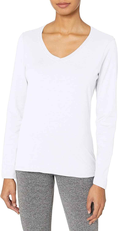 Hanes Women's V-Neck Long Sleeve Tee