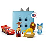 toniebox Light Blue Starter Set Bundle - Includes Creative Tonie, Woody from Toy Story, Simba from Disney's The Lion King, an
