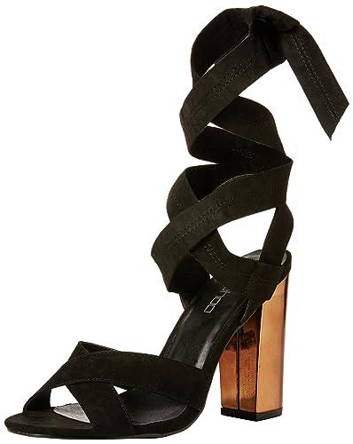 43f40d8d3c5b Boohoo Women s Ella Block Cross Front Wrap Strap Open-Toe Heels ...
