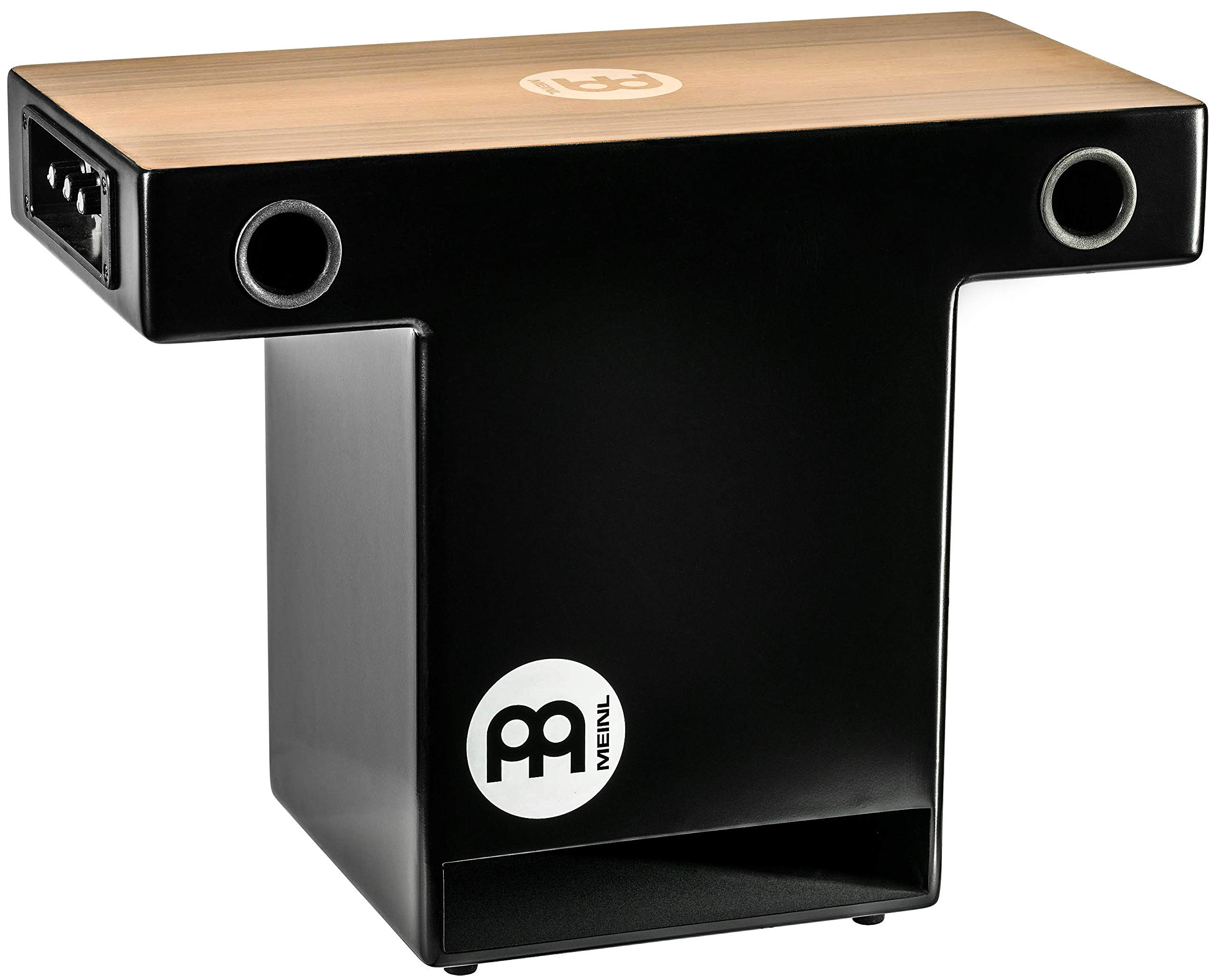 Meinl Pickup Slaptop Cajon Box Drum with Internal Snares and Forward Projecting Sound Ports -NOT MADE IN CHINA - Walnut Playing Surface, 2-YEAR WARRANTY (PTOPCAJ2WN) by Meinl Percussion