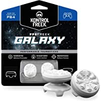 KontrolFreek FPS Freek Galaxy White for PlayStation 4 (PS4) Controller   Performance Thumbsticks   1 High-Rise, 1 Mid-Rise   White